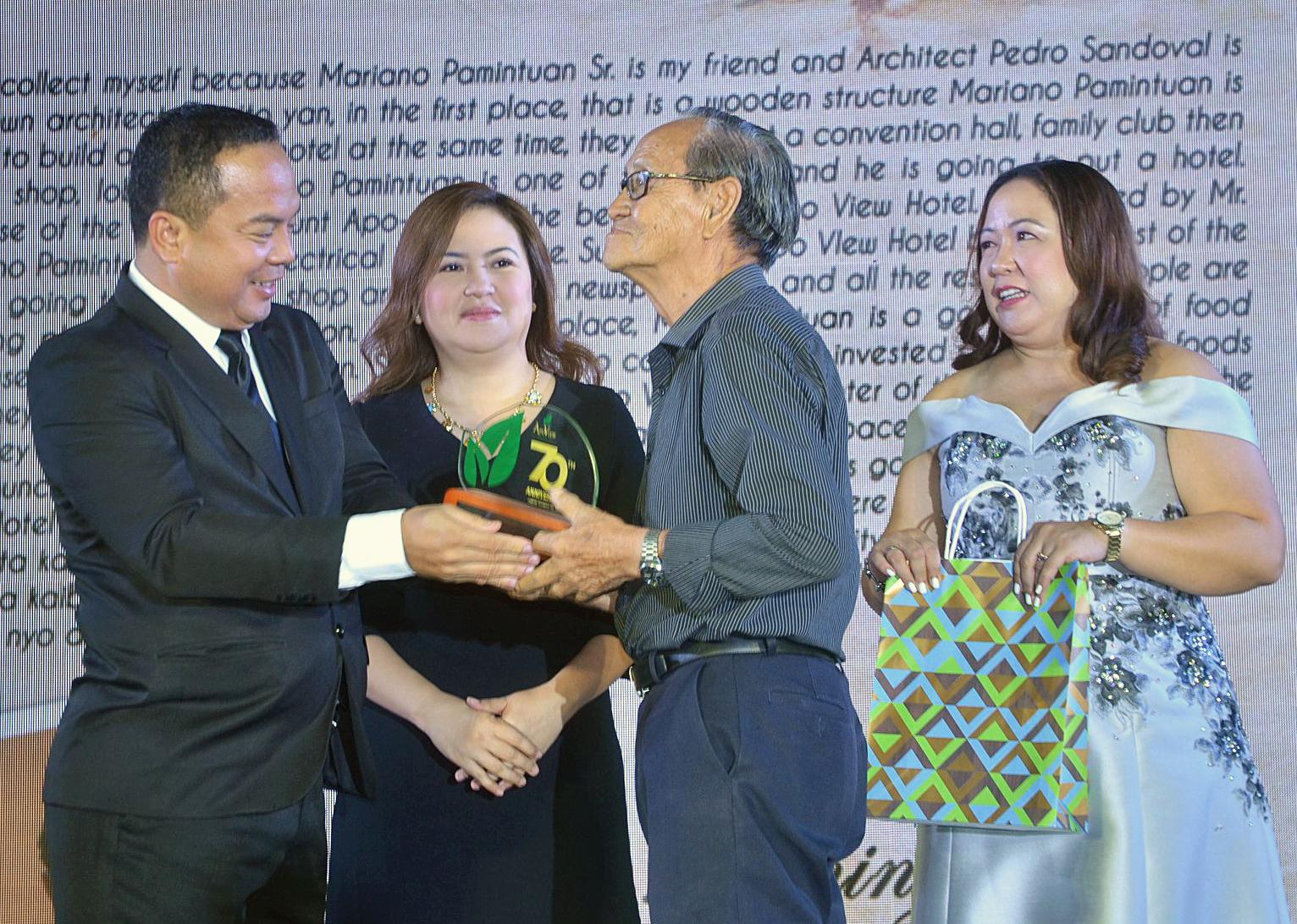 Grand Winner of My Apo View Story, Engr. Avelino Domingo