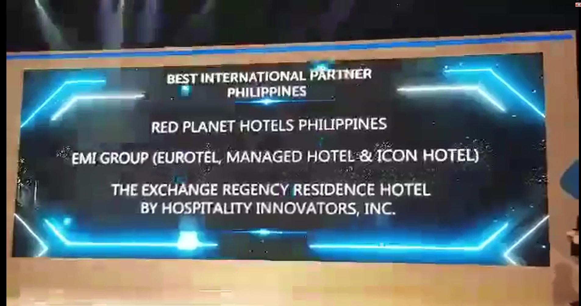 """Best International Partner"" in Traveloka Hotel Awards 2018."